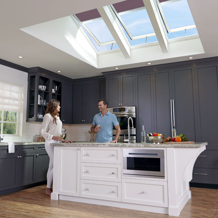 Superieur Kitchen With Skylights