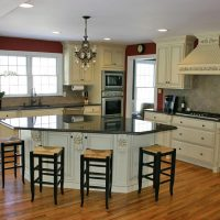 remodeled kitchen with island
