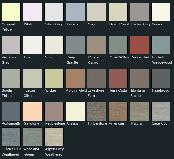 Vinyl Siding Colors 40