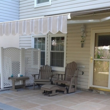 retractable patio awning