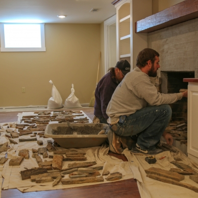 updating fireplace