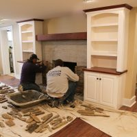 creating new fireplace facase