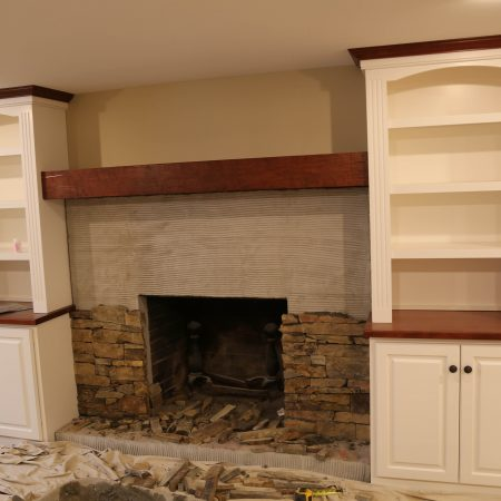 finishing a basement fireplace