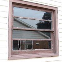 weathered cracked window