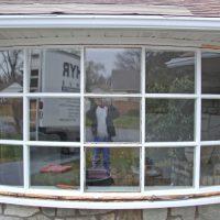 cracked weathered bay windows