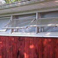 streaked weathered windows