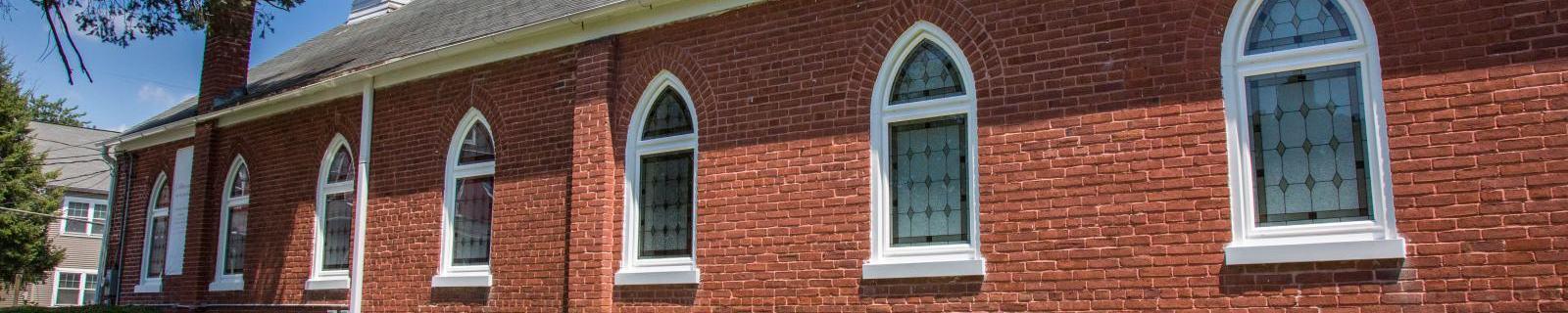 church with new windows