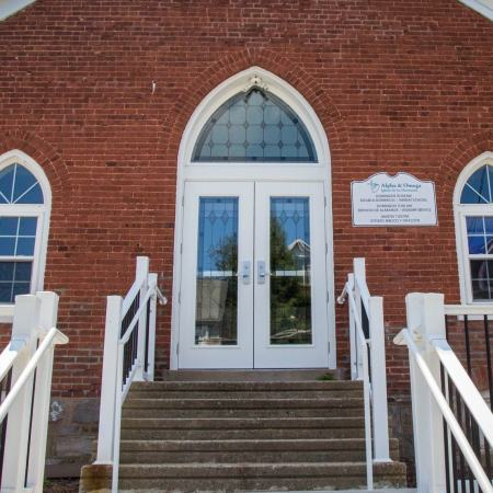 new windows and doors in church
