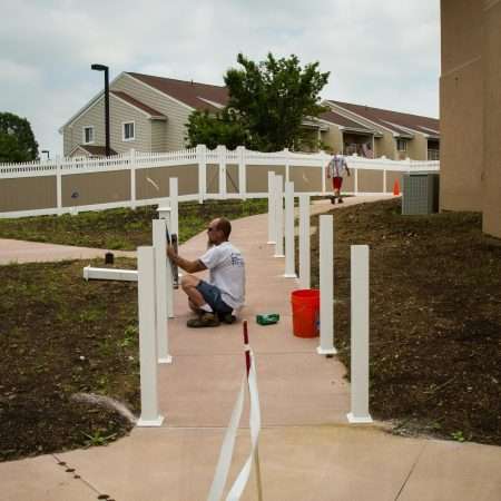 homestead village railing installation