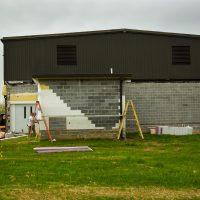 removing old concrete bricks