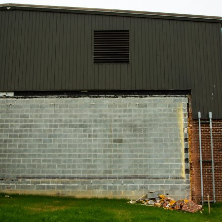 old wall of school