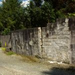 retaining wall in need of repair