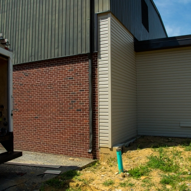 new vinyl siding on a commercial building