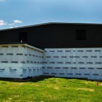 homewrap to prepare building for siding