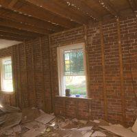 interior wall remodel